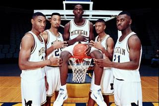 Jimmy King, Juwan Howard, Chris Webber, Jalen Rose, Ray Jackson