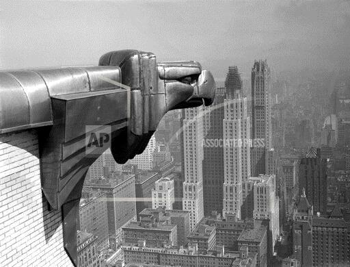 Associated Press Domestic News New York United States CHRYSLER BUILDING GARGOYLE