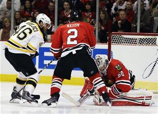 Corey Crawford, David Krejci, Duncan Keith
