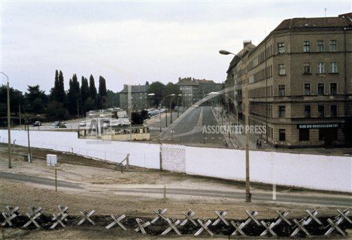 Germany Berlin Wall Anniversary Then and Now