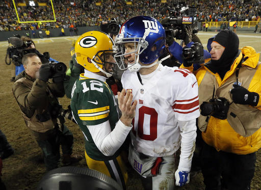 Aaron Rodgers, Eli Manning