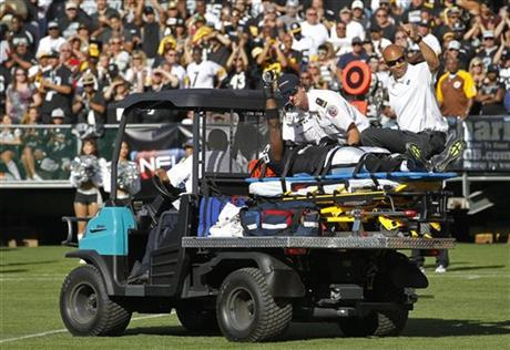 Darrius Heyward-Bey, carted from field