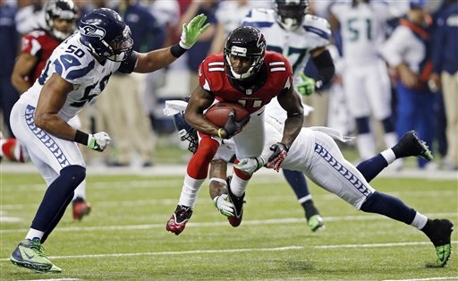 Julio Jones ,K.J. Wright, Earl Thomas