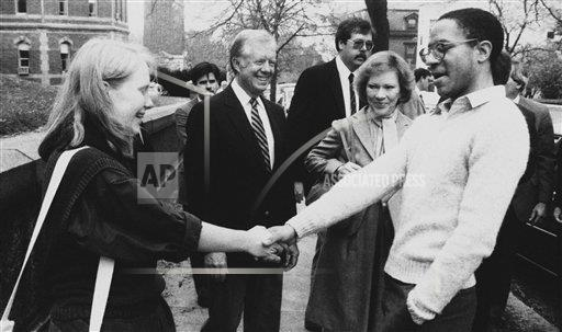 Watchf AP A  RI USA APHS164393 Jimmy Carter and Rosalynn Carter Amy Carter Rodney Bolden
