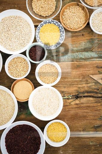 Buckwheat, red rice, bulgur, rice, amaranth, oats, barley and spelt and quinoa