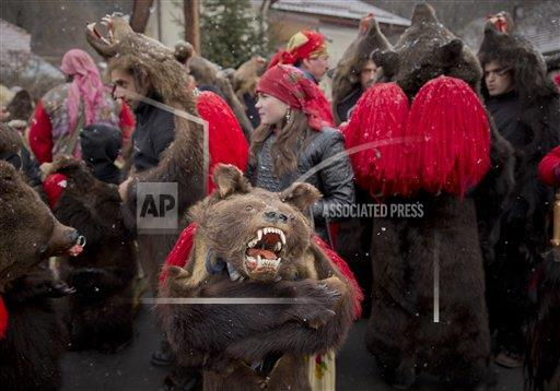 Romania New Year's Bear Ritual
