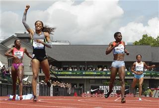 Sanya Richards-Ross, Amantle Montsho, Novlene Williams-Mills