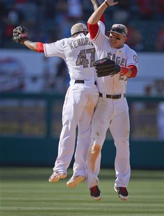 Howie Kendrick, Mike Trout