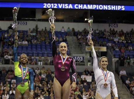 Gabby Douglas, Jordyn Wieber, Alexandra Raisman