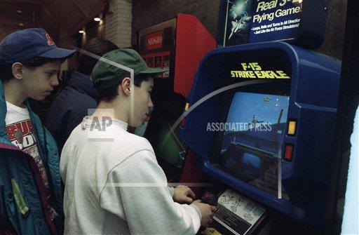 Watchf AP A  NY USA APHS333647 Raymond Freda plays video game