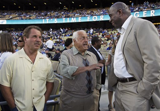 Tommy Lasorda, Earvin &quot;Magic&quot; Johnson, Ron Cey