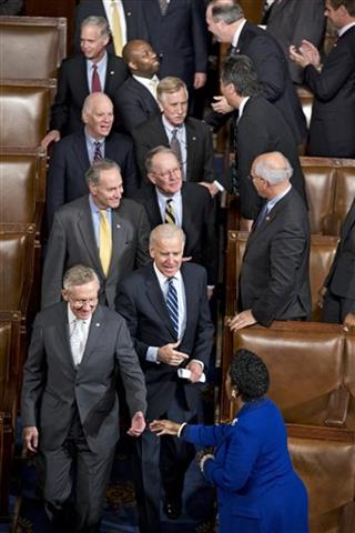 Harry Reid, Charles Schumer, Ben Cardin, Ron Johnson, Joe Biden, Lamar Alexander, Angus King, Tim Scott