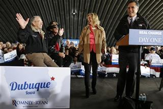 Mitt Romney, Chuck Grassley, Richard Petty, Ann Romney