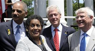 Bill Clinton, Myrlie Evers Williams, Eric Holder, Roger Wicker