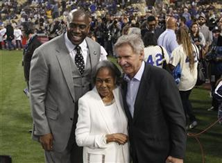 Magic Johnson, Harrison Ford, Rachel Robinson