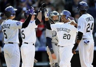 John Baker, Wilin Rosario, Carlos Gonzalez, Jordan Pacheco, Dexter Fowler