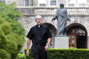 Rev. Thomas Berg, director of admissions at St. Joseph's Seminary, poses for a portrait at the facility in Yonkers, N.Y., on Friday, Aug. 17, 2018. Berg said he and his colleagues strive to rigorously screen the young men applying for admission, assessing their psychosexual development and emotional maturity. Applicants are asked about their dating history and their level of attraction to other males; Berg believes the process has succeeded in reducing the number of seminarians with same-sex attraction. (AP Photo/Richard Drew)