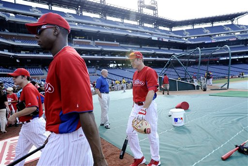 Chase Utley, John Mayberry Jr.