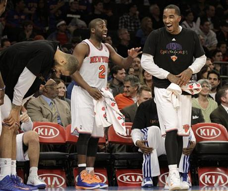 Tyson Chandler, Raymond Felton, J.R. Smith