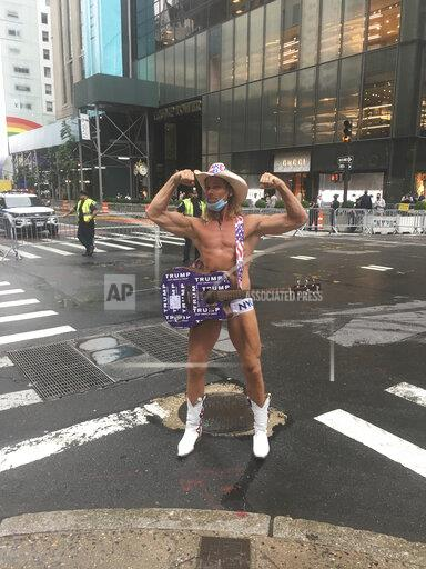 The Naked Cowboy is seen at Trump Tower - 7/31/20