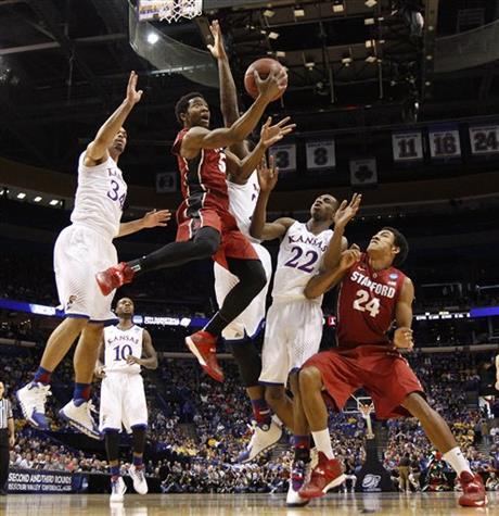 NCAA Third Round Kansas v Stanford