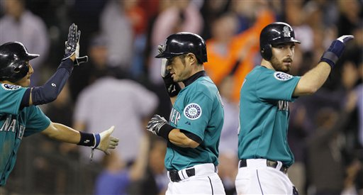 Dustin Ackley, Ichiro Suzuki, Munenori Kawasaki