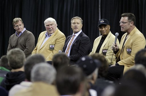 Roger Goodell, John Madden, John Elway, Ronnie Lott, Howie Long