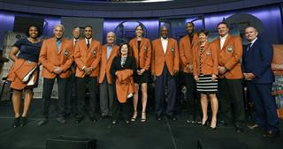 John Doleva, Nick Galis, Robert Hughes, Mannie Jackson, Tom Jernstedt, Thelma Krause, Rebecca Lobo, George McGinnis, Tracy McGrady, Muffet McGraw, Bill Self,