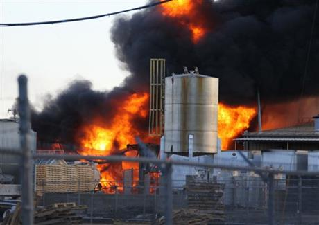 Texas-Chemical Plant Fire