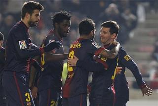 Lionel Messi , Daniel Alves, Alexandre Song, Gerard Pique