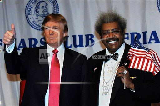 Associated Press Domestic News New York United States Entertainment FRIARS DON KING ROAST