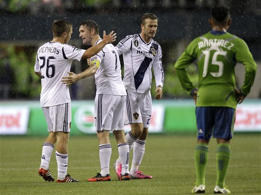 Robbie Keane, David Beckham, Michael Stephens