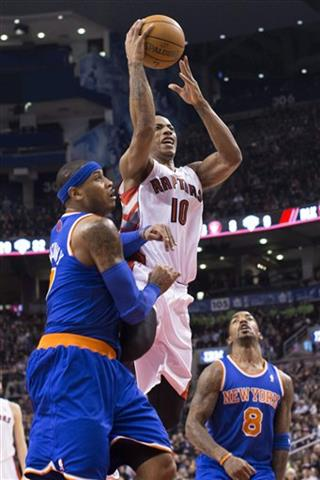 DeMar DeRozan ;  Carmelo Anthony; J.R Smith
