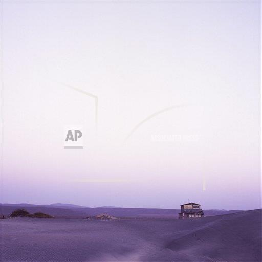 Creative AP T   Mexico 753-244 Abandonded vacation home in desolate landscape, Northern Baja, Mexico, North America