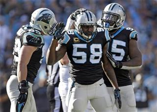 Thomas Davis, Luke Kuechly, Charles Johnson