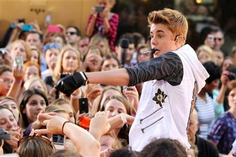 Justin Bieber Performs During the Today Show Concert Series