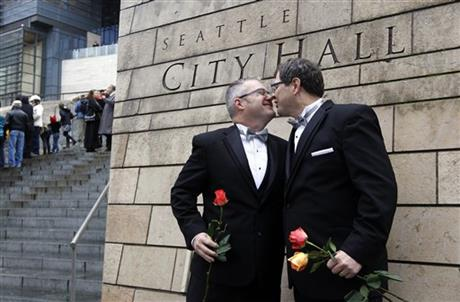 APTOPIX Gay Marriage