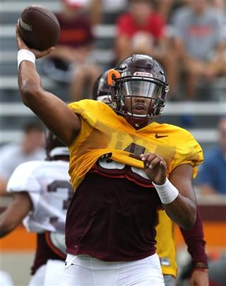 Virginia Tech Practice Football
