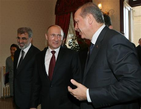 Vladimir Putin, Recep Tayyip Erdogan, Taner Yildiz