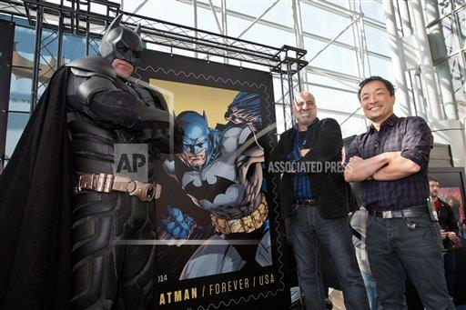 USPS Launches the Forever Batman Stamp at New York's Comic Con