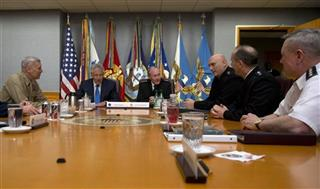 Chuck Hagel, Martin Dempsey, Frank Grass, Ray Odierno, Jay Paxton, Frank Grass