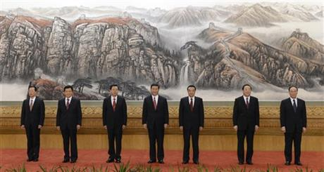 Xi Jinping, Li Keqiang, Zhang Dejiang, Yu Zhengsheng, Liu Yunshan, Wang Qishan, Zhang Gaoli