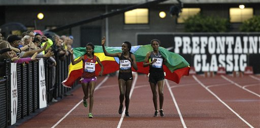 Tirunesh Dibaba, Werknesh Kidane, Beleynesh Oljira,