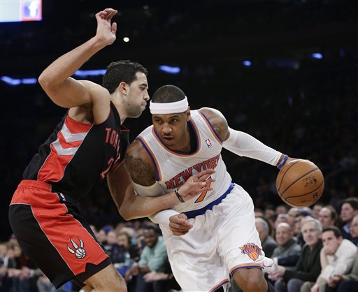 Landry Fields, Carmelo Anthony