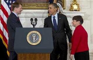 Barack Obama, Mary Jo White, Richard Cordray