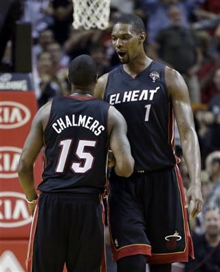 Chris Bosh, Mario Chalmers