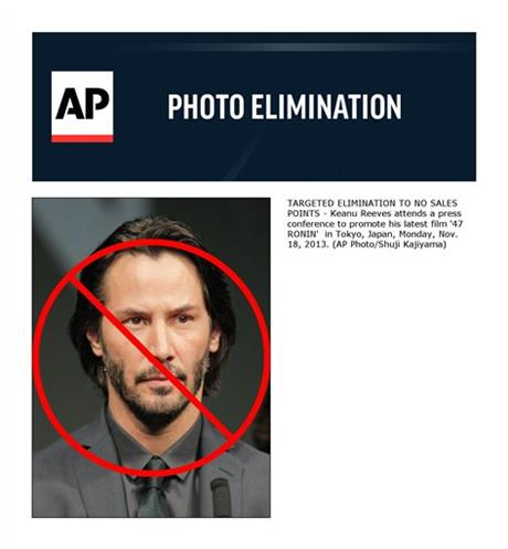 Keanu Reeves attends a press conference to promote his latest film '47
