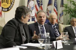Joe Biden, Timothy M. Kaine, Janet Napolitano, Bobby Scott