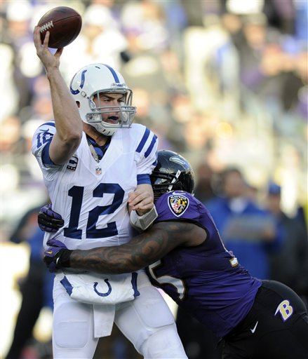 Andrew Luck, Terrell Suggs