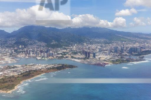 USA, Hawaii, Oahu, Honolulu, Waikiki Beach, Aerial view